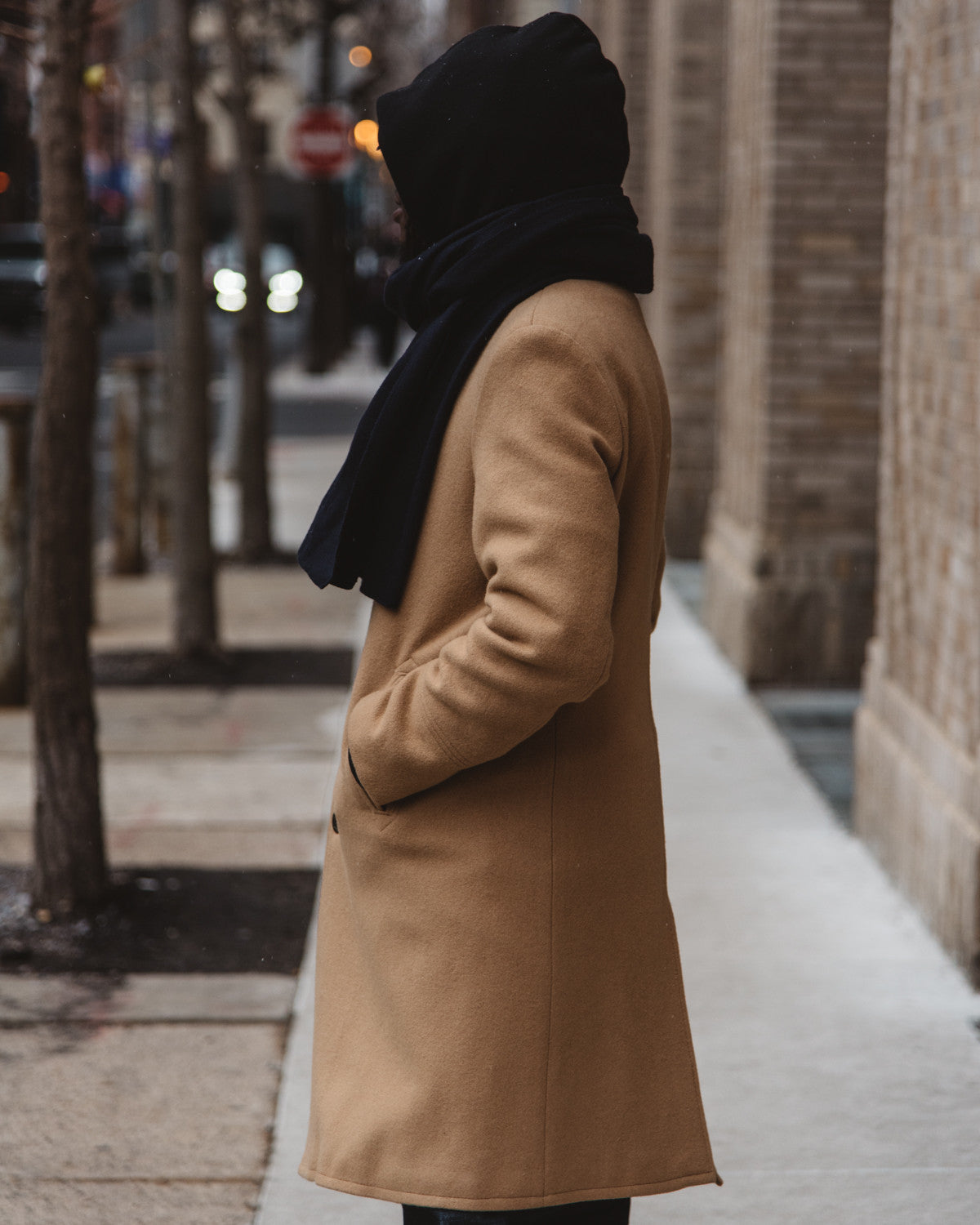 WOOL OFFICER`S TRENCHCOAT