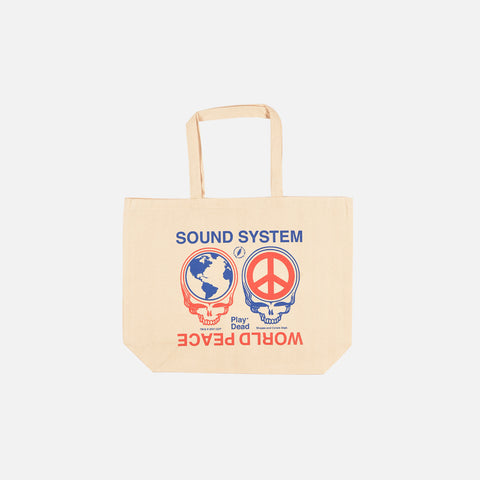 CODY HUDSON X PLAY DEAD WORLD PEACE TOTE - NATURAL