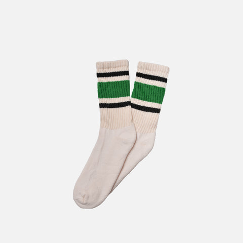 RETRO STRIPE SOCK - GREEN