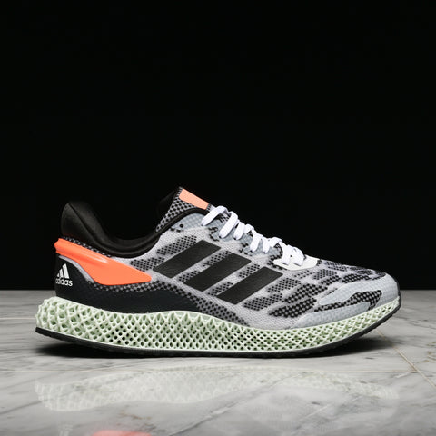 4D RUN 1.0 - CLOUD WHITE / CORE BLACK / SIGNAL CORAL