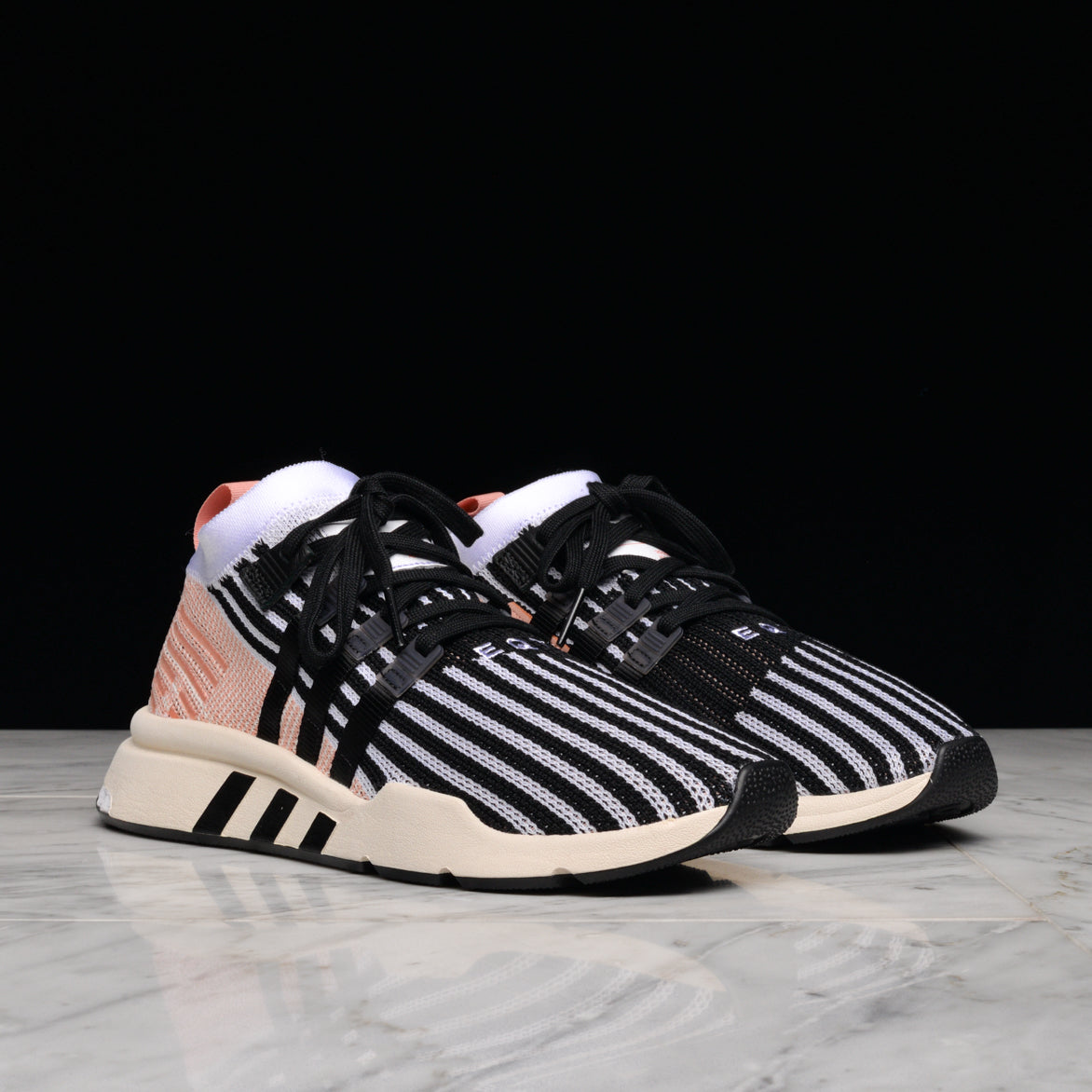 EQT SUPPORT MID ADV PK - WHITE / BLACK /TRACE  PINK