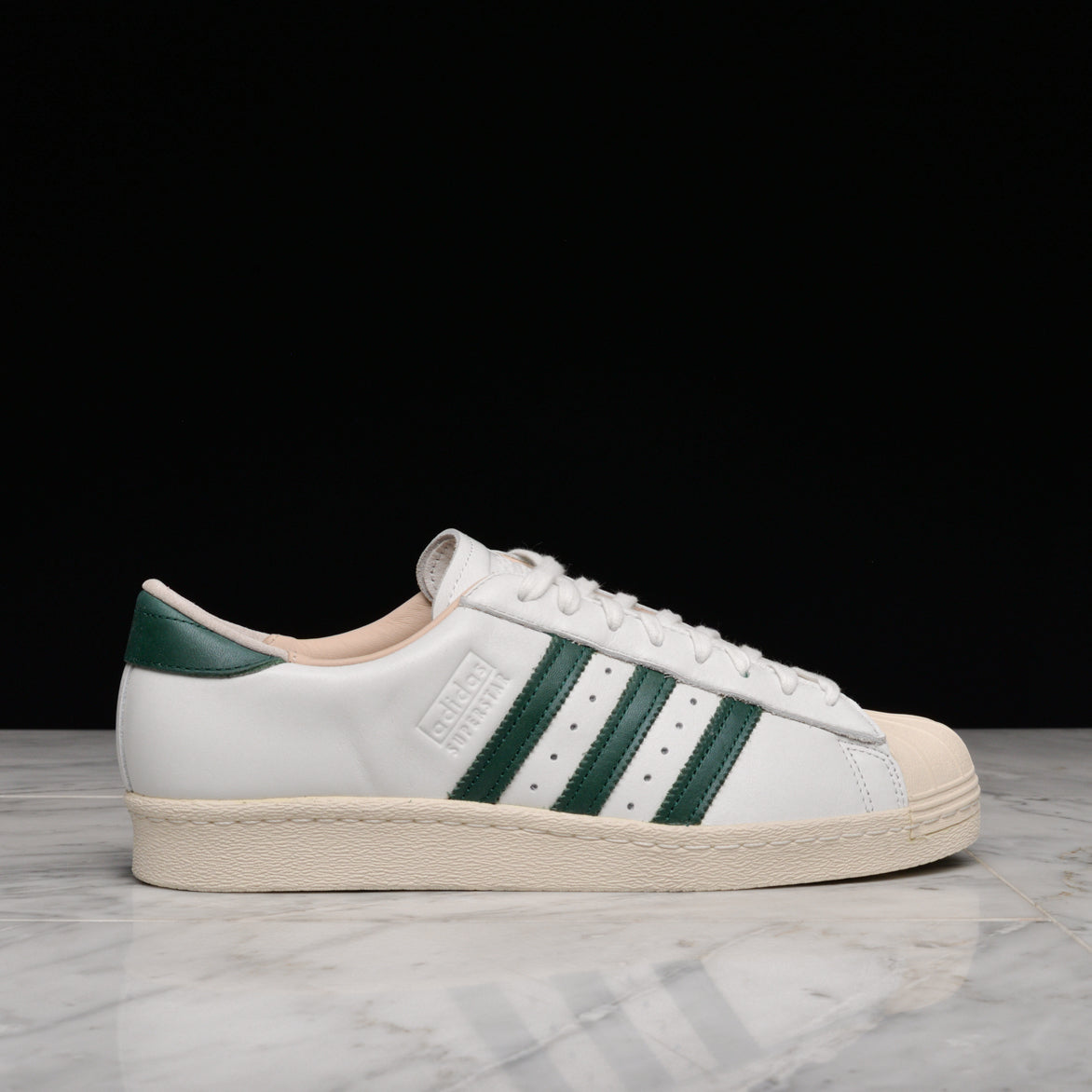 Adidas Superstar 80s Trainers WhiteGreen