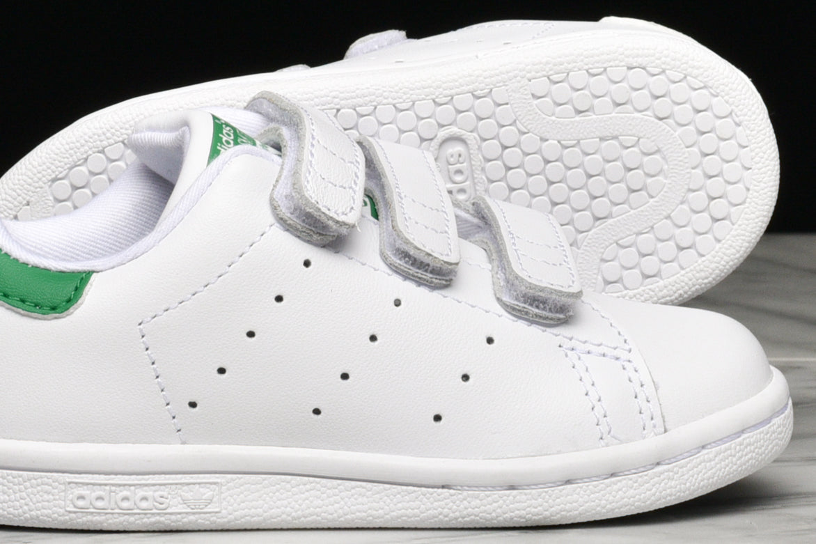 premium selection afde7 7d2d6 STAN SMITH VELCRO (TD) - WHITE / GREEN
