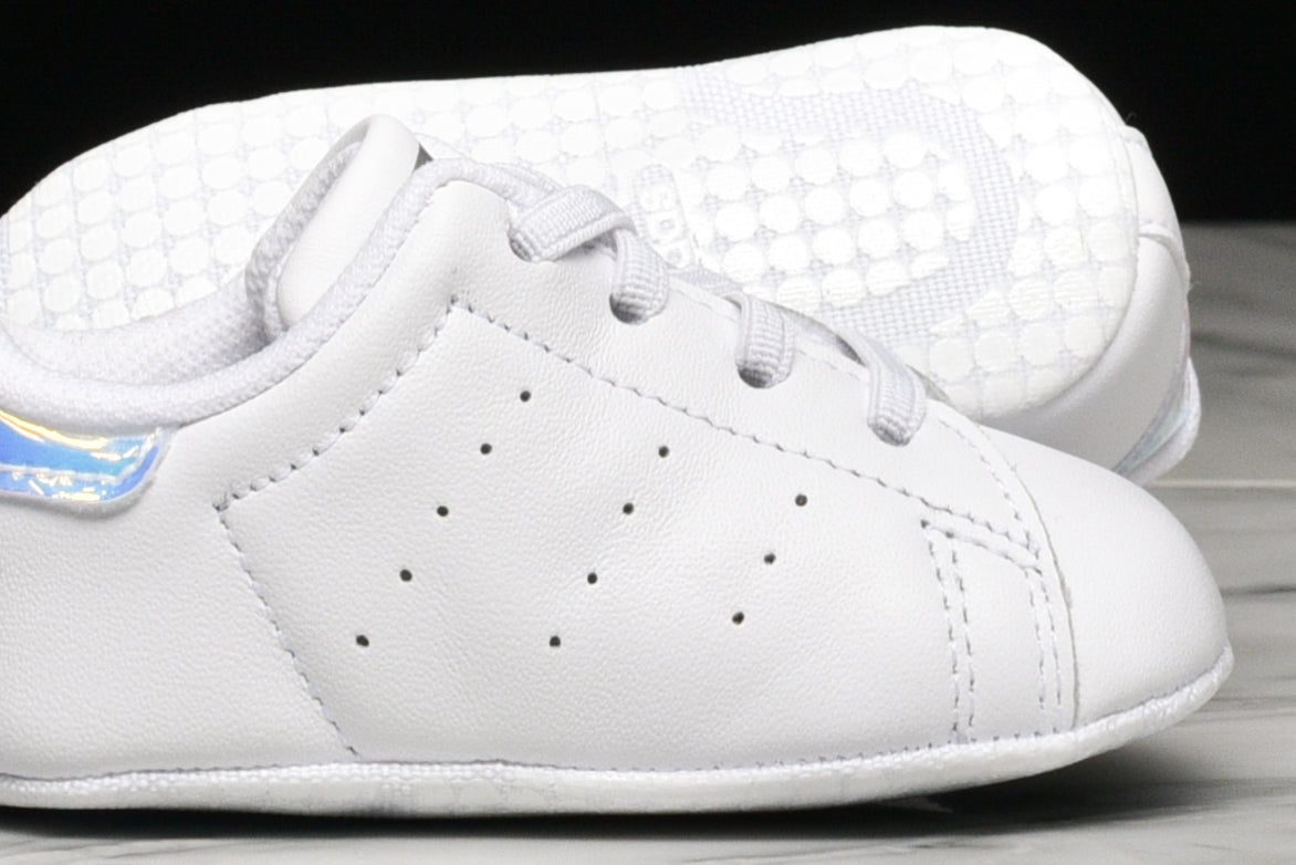 STAN SMITH CRIB - WHITE / METALLIC SILVER