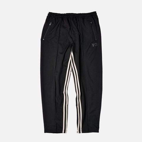 INSEAM 3-STRIPE TRACK PANTS - BLACK / WHITE