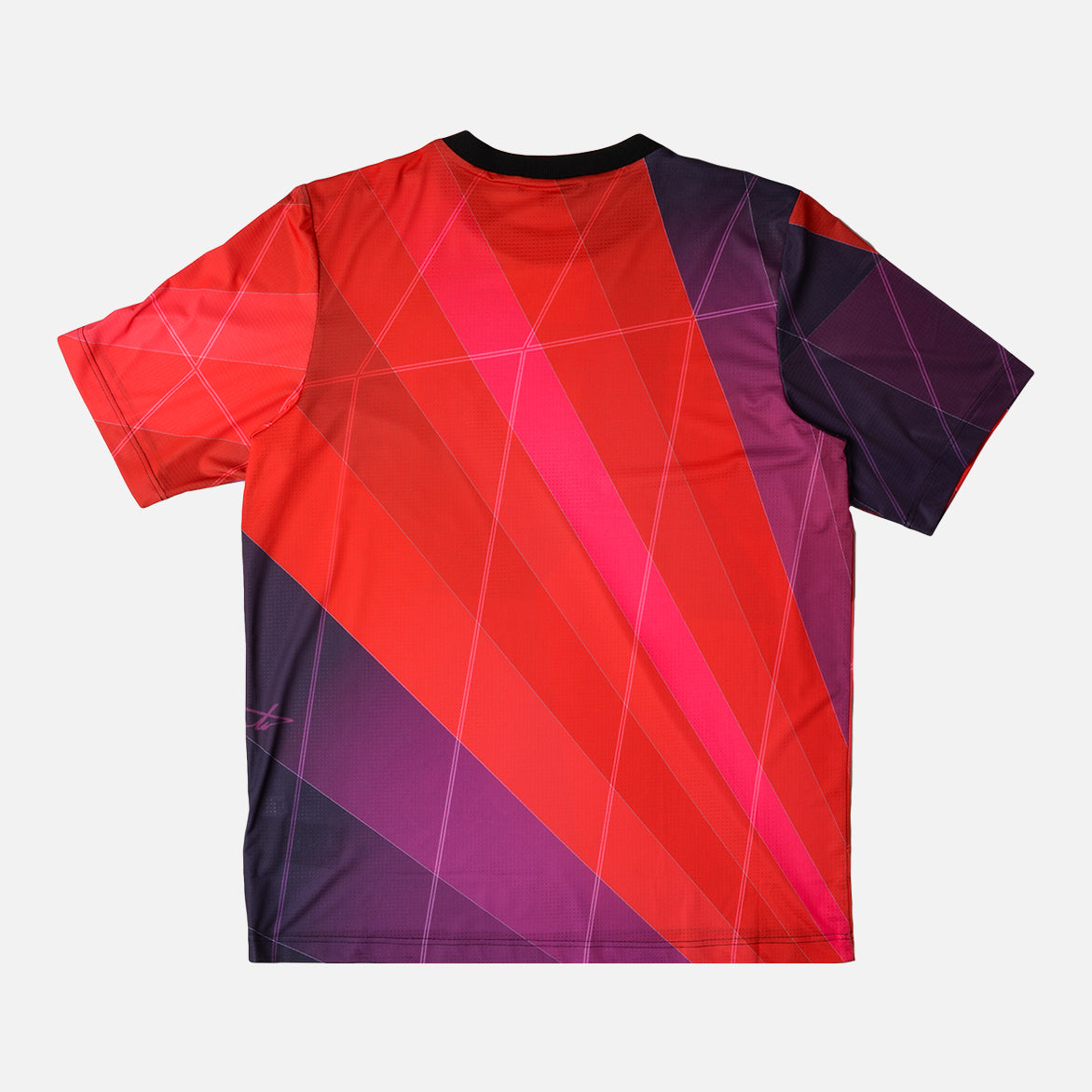 AOP FOOTBALL SHIRT - RED / PURPLE