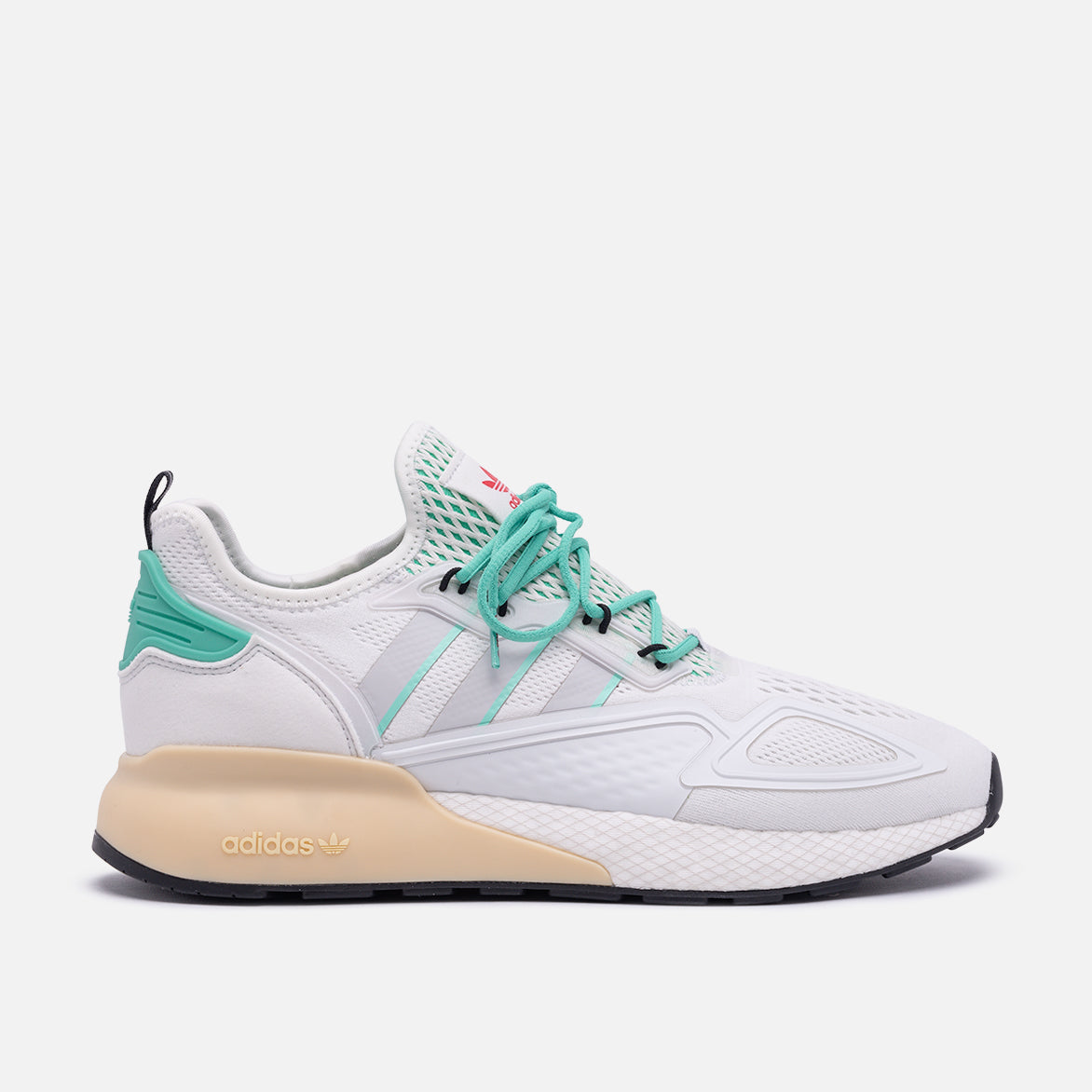ZX 2K BOOST - CRYSTAL WHITE / GREY ONE / HI-RES GREEN