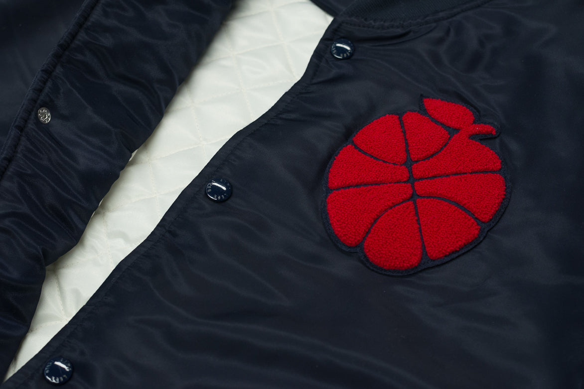 SATIN TEAM JACKET - NAVY
