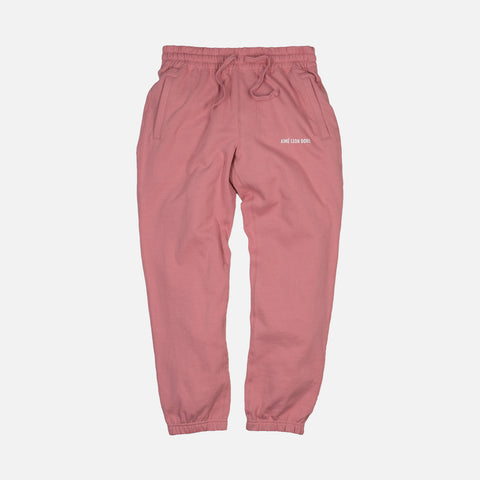 FRENCH TERRY CAMPER PANT - DUSTY PINK