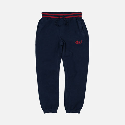 REVERSE FLEECE CAMPER PANT - MIDNIGHT
