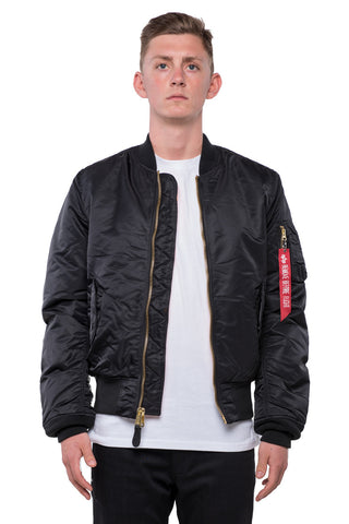 MA-1 SLIM FIT FLIGHT JACKET - BLACK