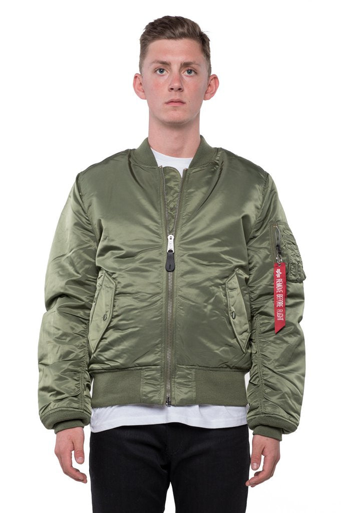 a77ee774df750 MA-1 SLIM FIT FLIGHT JACKET - SAGE ...
