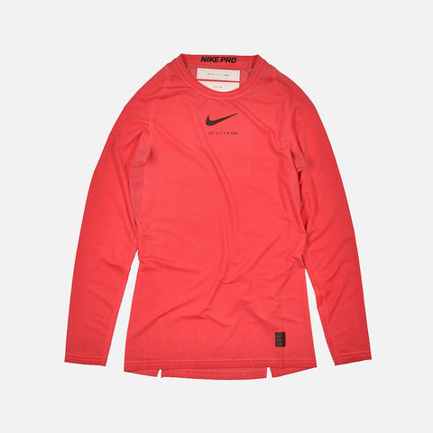NIKE X ALYX LONG SLEEVE DYED TEE - RED