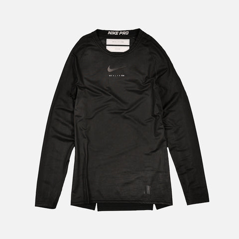 NIKE X ALYX LONG SLEEVE TEE - BLACK