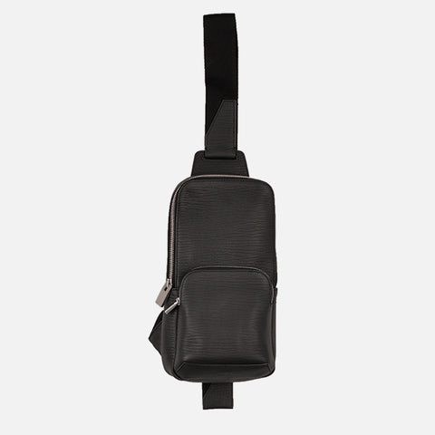 CROSSBODY BAG - BLACK LEATHER
