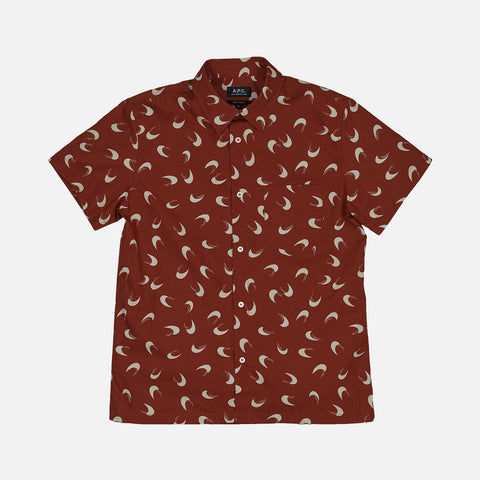 CIPPI SHORT SLEEVE WOVEN - DARK RED