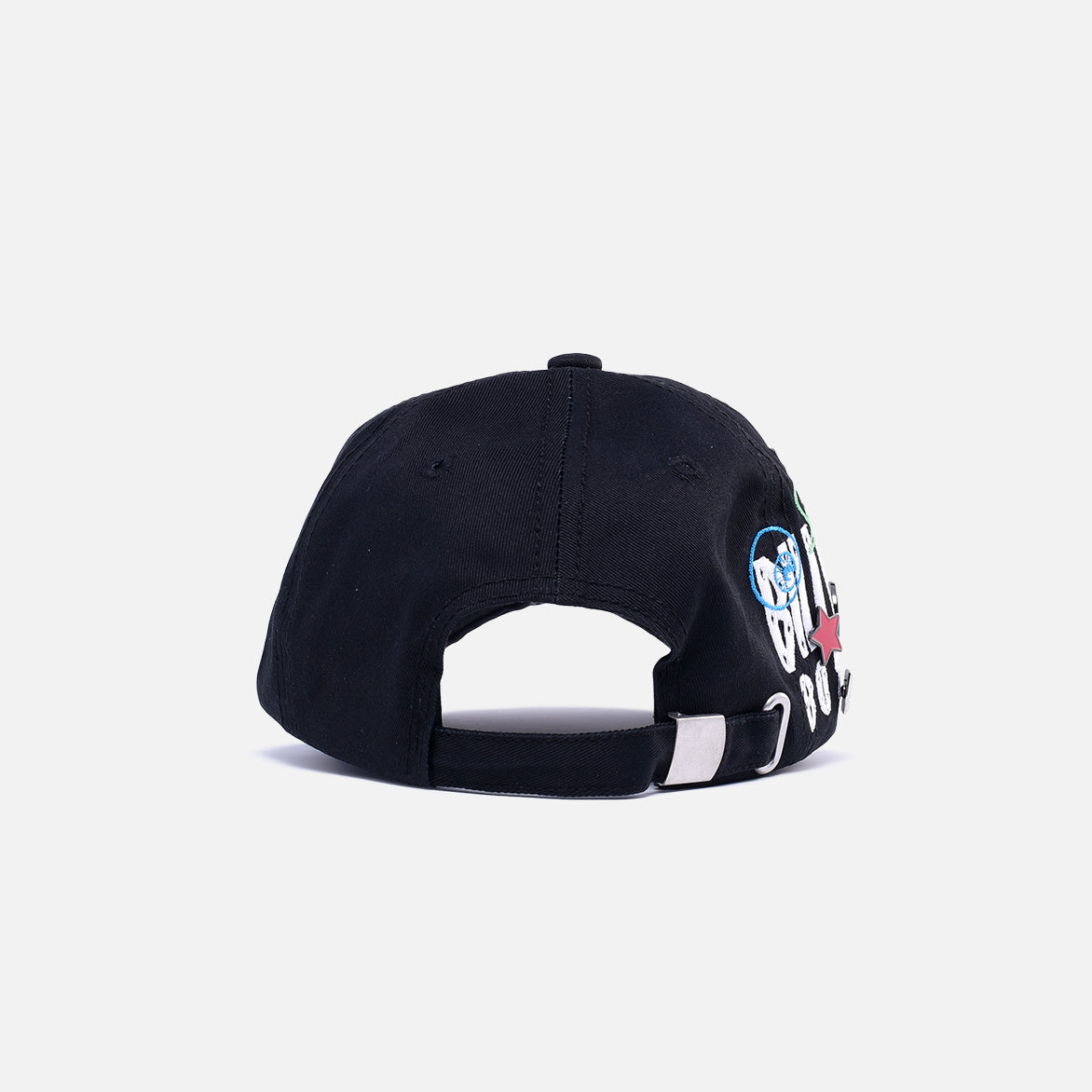 STRAIGHT LOGO HAT - BLACK