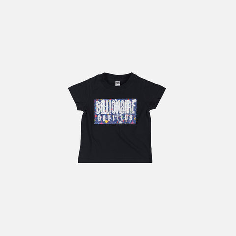 KIDS STARS BOX SS TEE - BLACK