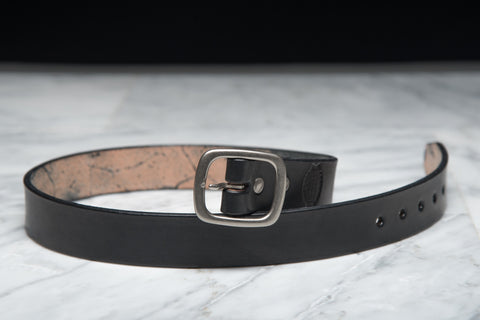 LAPSTONE & HAMMER BLACK NICKEL LEATHER BELT (OVAL)