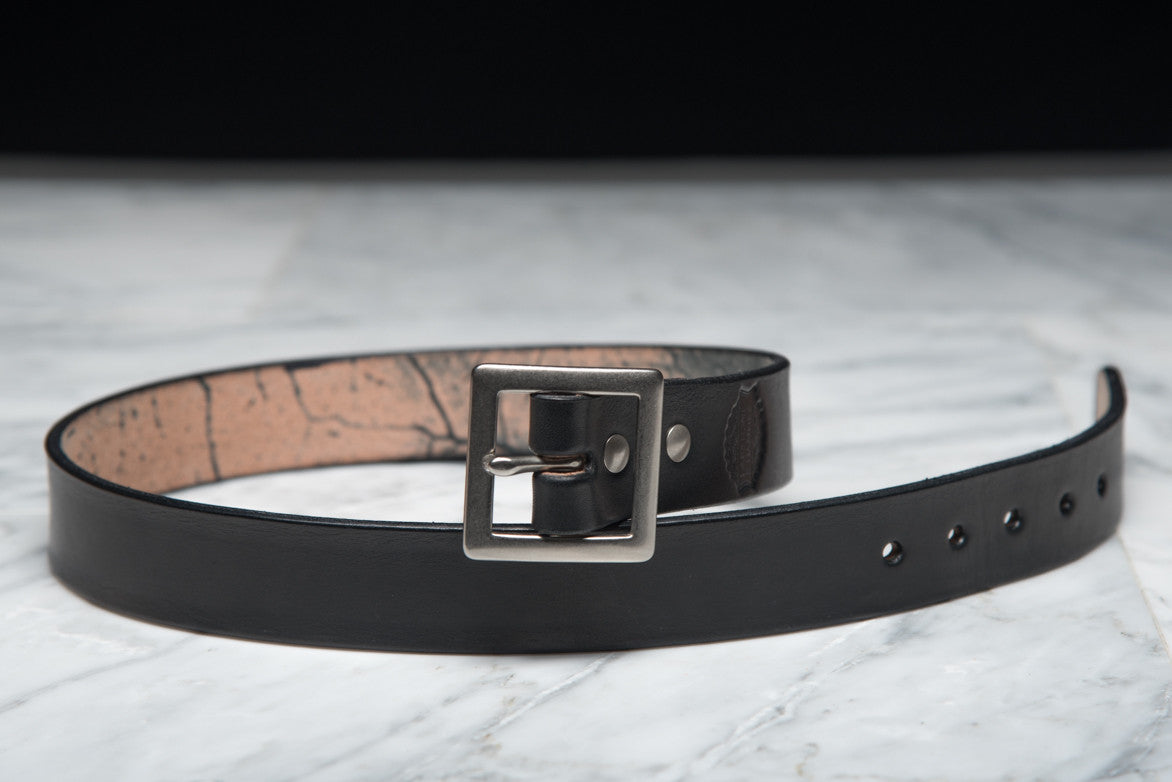 LAPSTONE & HAMMER BLACK NICKEL LEATHER BELT (SQUARE)