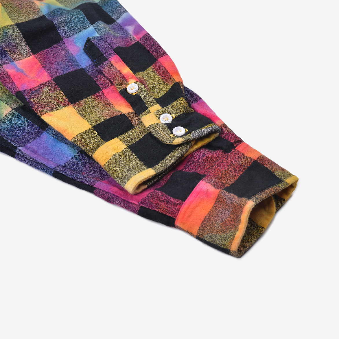 HAND DYED BUFFALO CHECK FLANNEL - RAINBOW