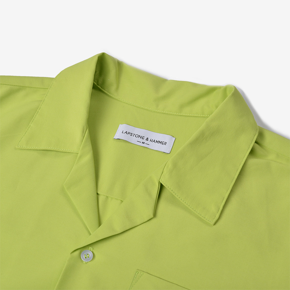 JAPANESE NYLON CAMP SHIRT - NEON GREEN