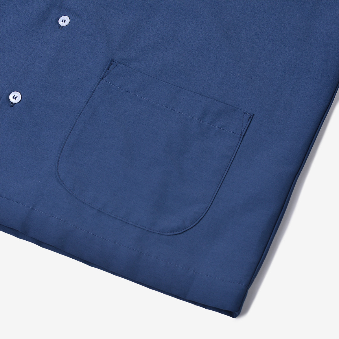 JAPANESE NYLON CAMP SHIRT - MARITIME BLUE