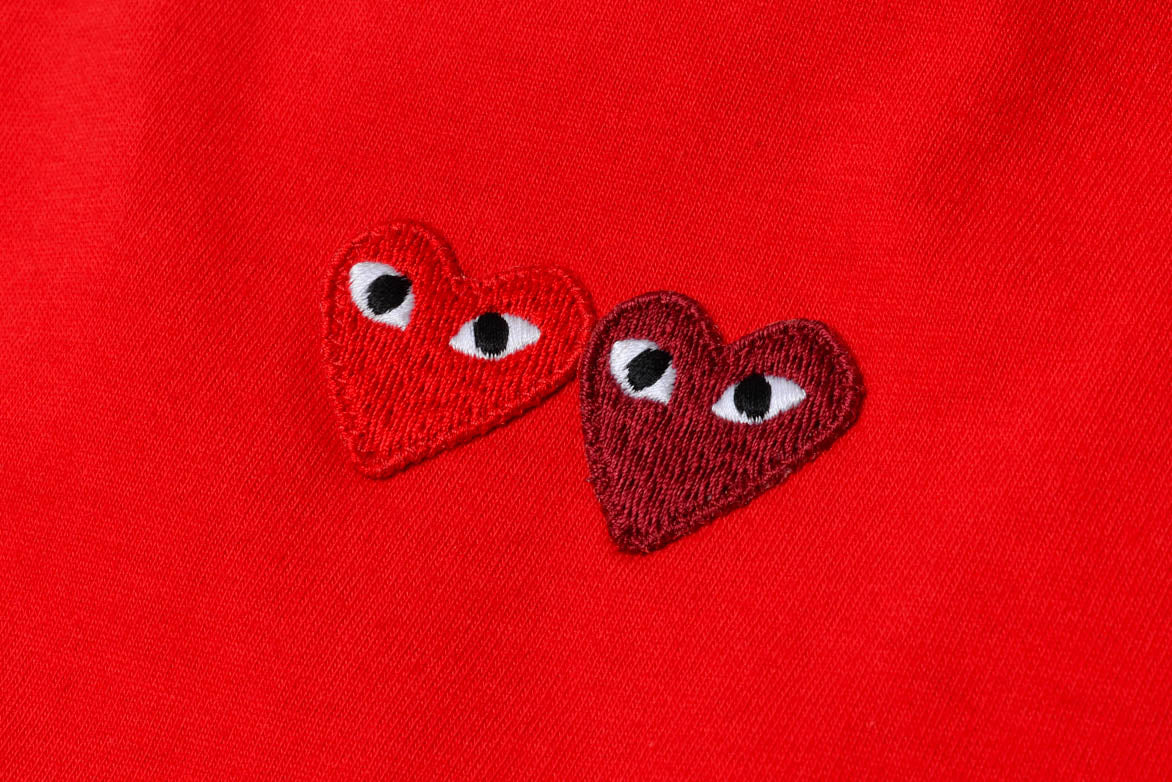 DOUBLE HEART TEE - RED / RED