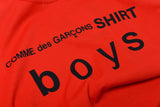 BOYS LOGO TEE - ORANGE