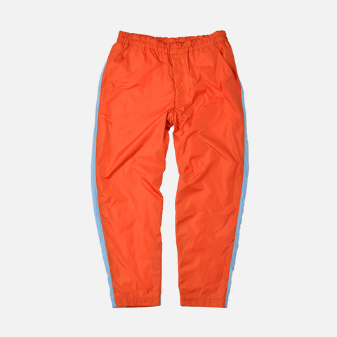 SIDE PANEL TRACK PANT - ORANGE / LIGHT BLUE