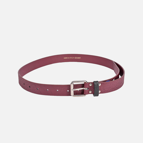 CONTRAST LOOP BELT - BURGUNDY