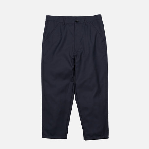 CROPPED WOVEN PANTS - NAVY