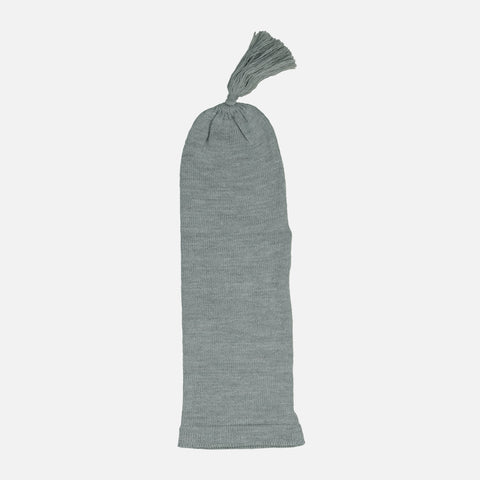LONG KNIT HAT - GREY