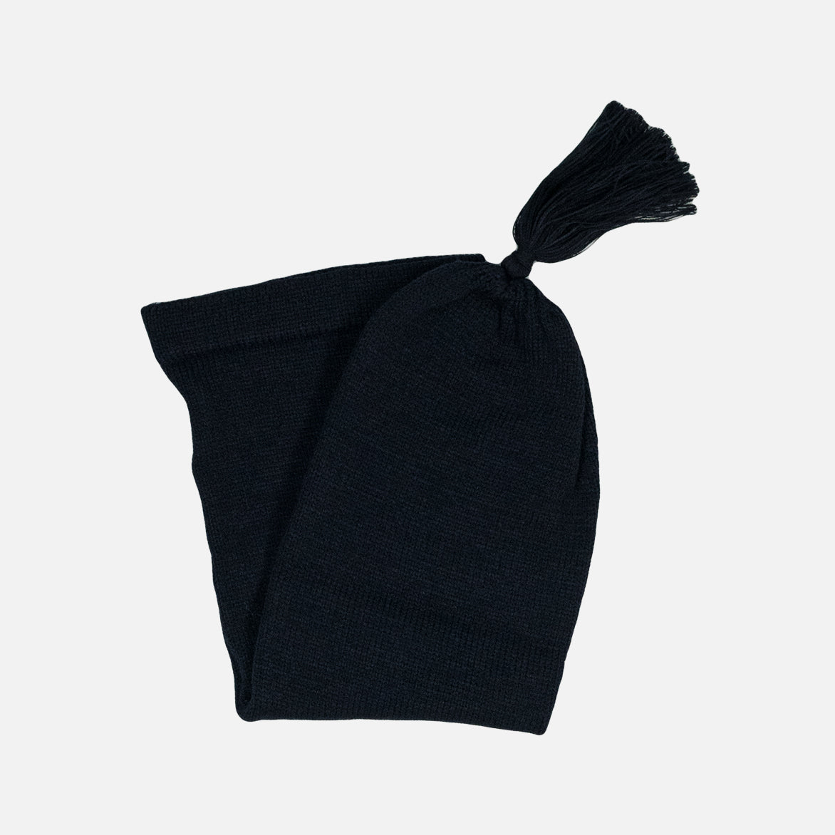 LONG KNIT HAT - NAVY