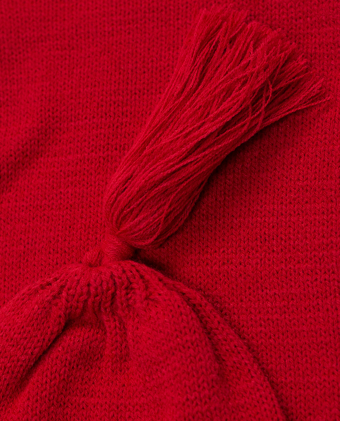 LONG KNIT HAT - RED
