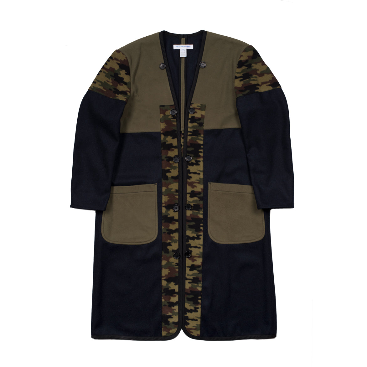 CAMO PATCH COAT - GREEN / BLACK