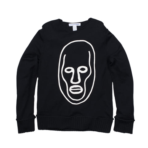 CDG SHIRT X ALEXIS BEAUCLAIR FACE SWEATER - BLACK