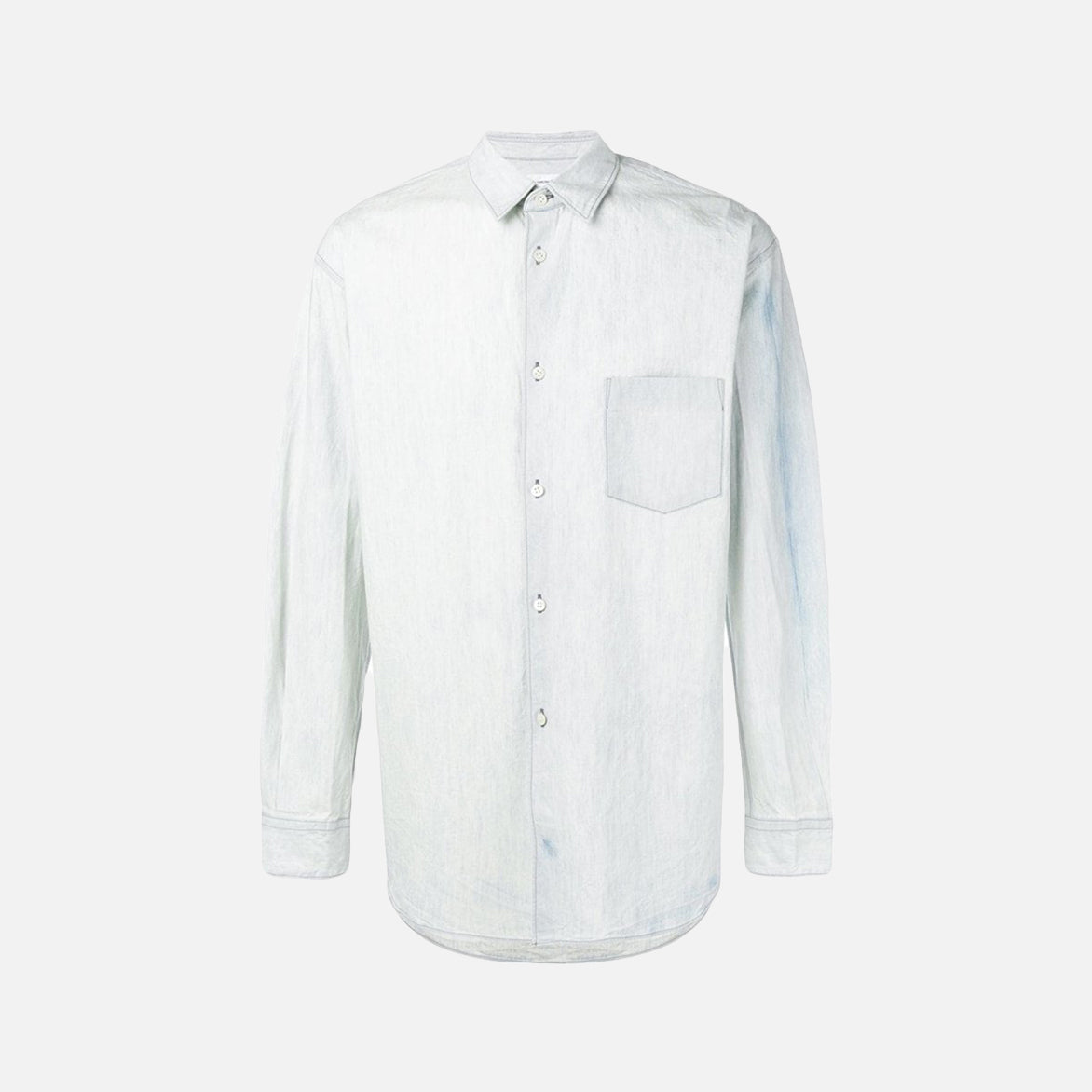 OVERSIZE WOVEN SHIRT - WASHED BLUE