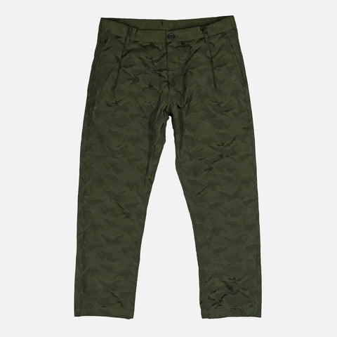 CROPPPED WOVEN TROUSERS - CAMO