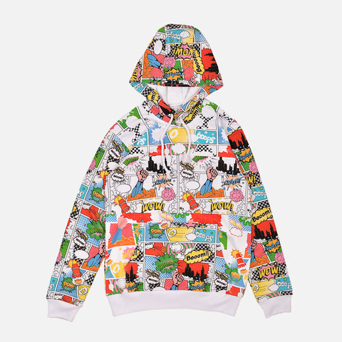 BOOM POW PULLOVER HOODIE - MULTI