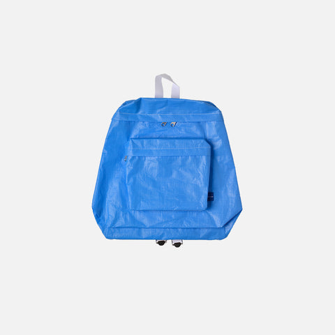 PVC ZIP BACKPACK - BLUE / WHITE