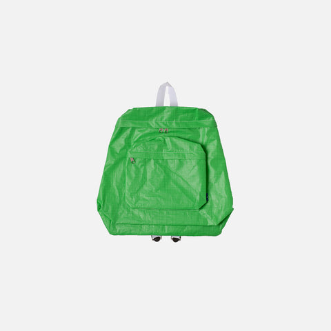 PVC ZIP BACKPACK - GREEN / WHITE