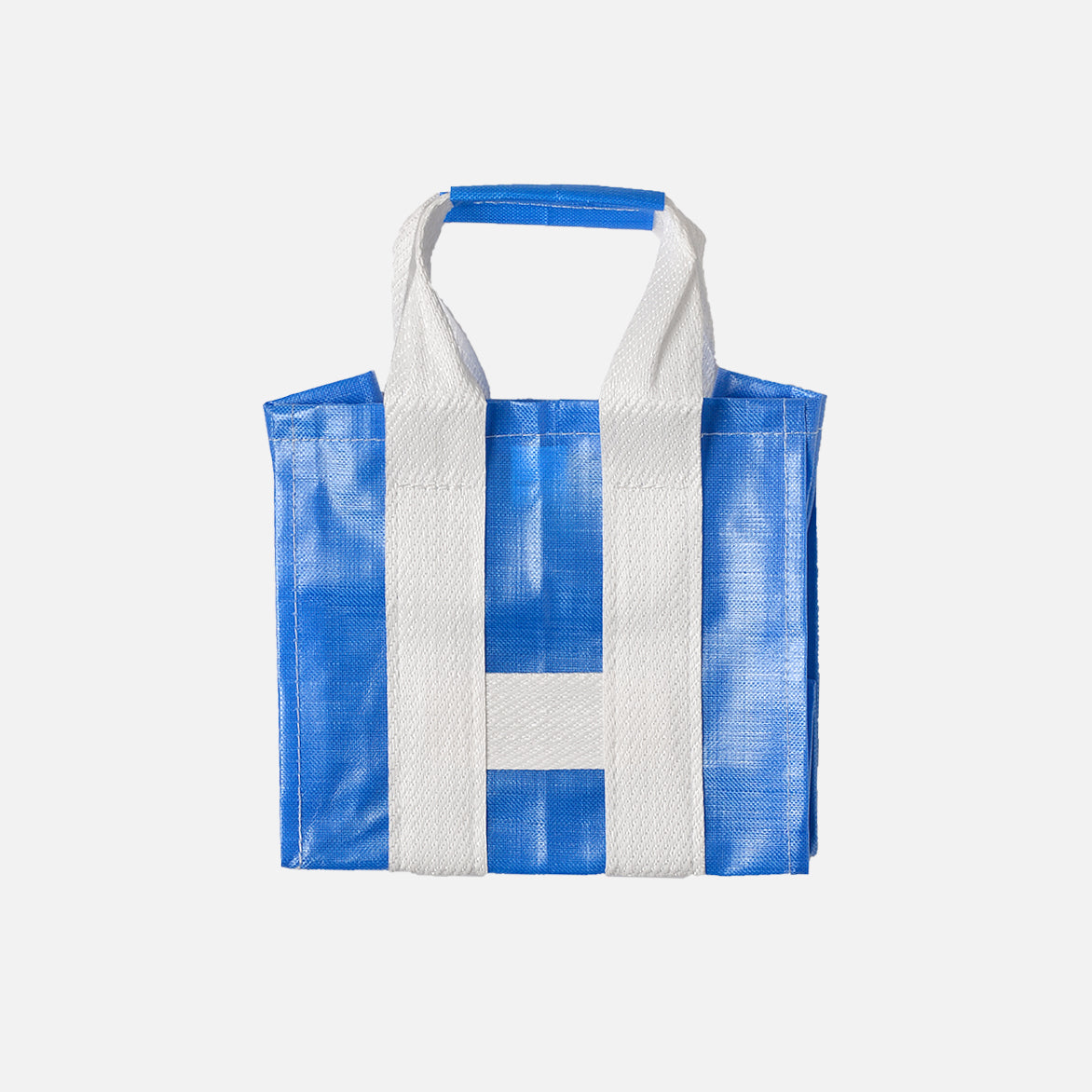 PVC SHOPPER TOTE - BLUE / WHITE