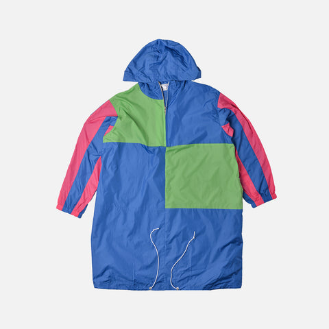 BOYS LOGO QUARTER ZIP NYLON PULLOVER - BLUE / GREEN / PINK