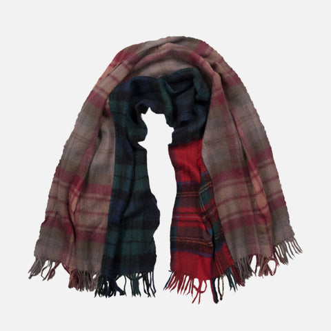 WOOL PLAID SCARF - MULTI