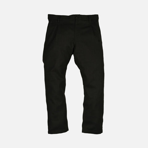 CROPPED WOOL TROUSERS - CHARCOAL