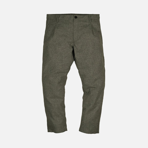 CROPPED WOOL TROUSERS - GREY