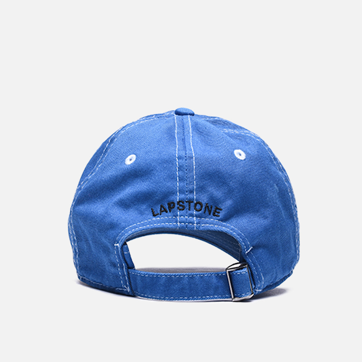 "WASHED COTTON 6 PANEL CAP ""SIGNATURE"" - INDIGO"