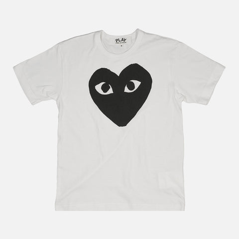 BIG HEART TEE - WHITE / BLACK