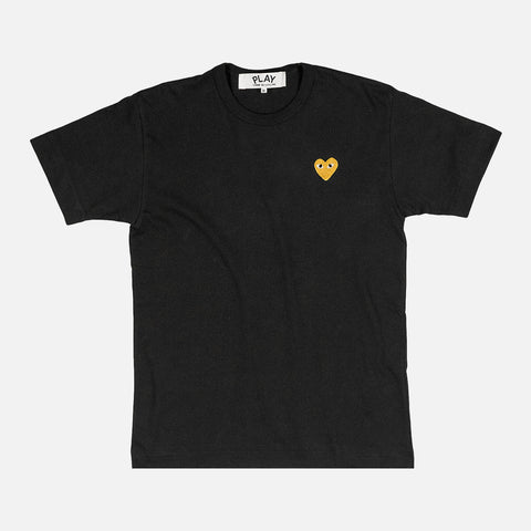 GOLD HEART LOGO TEE - BLACK / GOLD